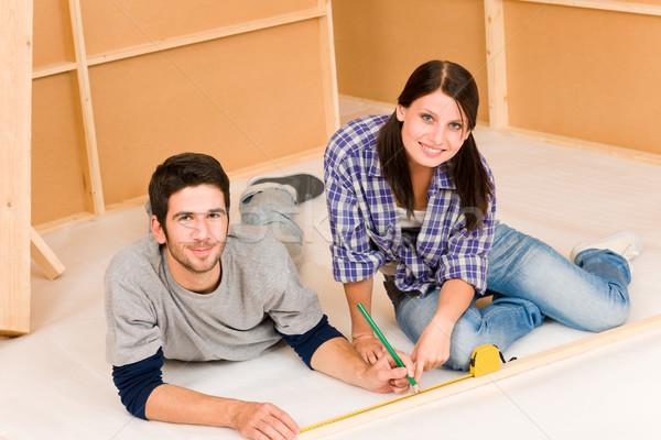 Mejoras para el hogar trabajo jóvenes feliz Pareja Foto stock © CandyboxPhoto