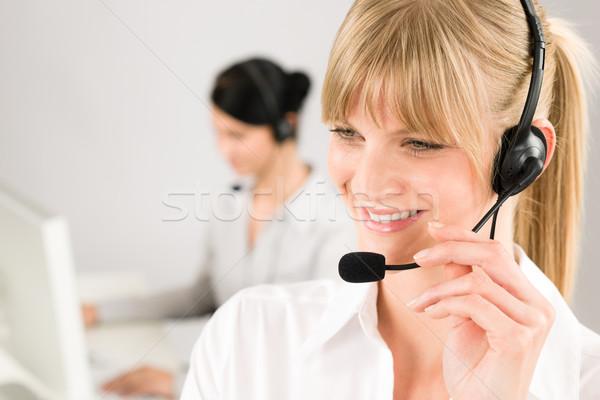 Customer Service Woman Call Center Phone Headset Stock Photo C Jean Marie Guyon Candyboxphoto 1571548 Stockfresh
