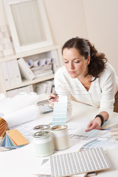 Female interior designer working at office Stock photo © CandyboxPhoto