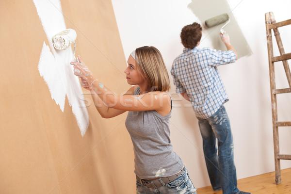 Melhoramento da casa pintura parede pintar casa Foto stock © CandyboxPhoto