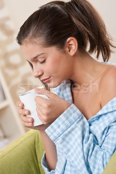 студентов женщины подростку Кубок кофе Сток-фото © CandyboxPhoto