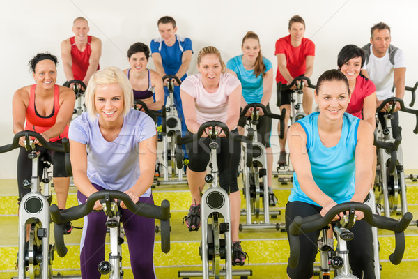Spinning class at the gym Stock photo © CandyboxPhoto