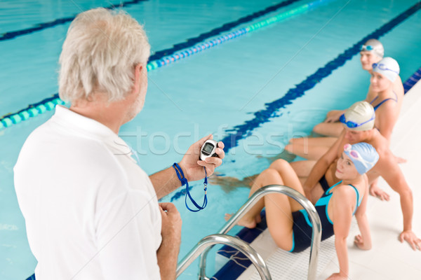 Piscine formation concurrence classe coach Photo stock © CandyboxPhoto