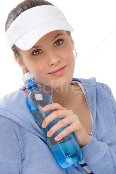 Sport - young woman fitness outfit water bottle Stock photo © CandyboxPhoto