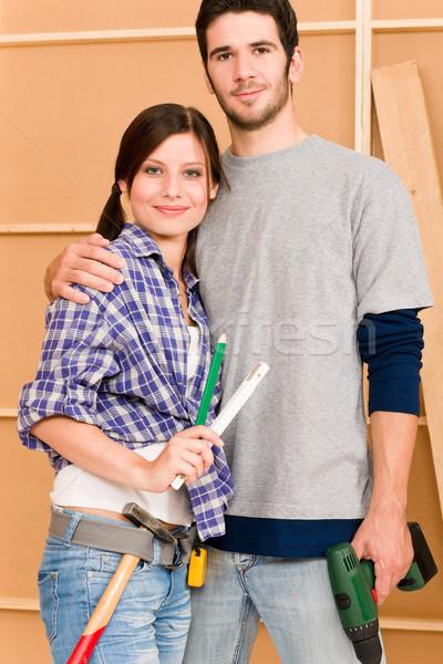 Amélioration de l'habitat réparation outils jeunes heureux Photo stock © CandyboxPhoto