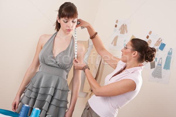 Сток-фото: женщины · моде · дизайнера · модель · серый