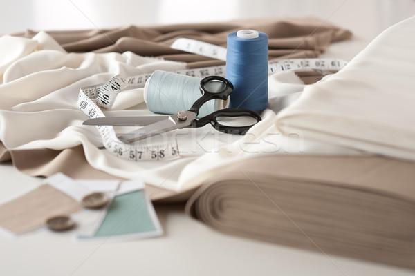 Stockfoto: Mode · ontwerper · studio · professionele · uitrusting · bureau