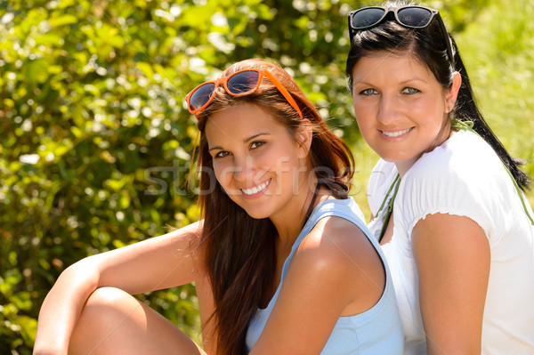 Mother and daughter spending free time relaxing Stock photo © CandyboxPhoto