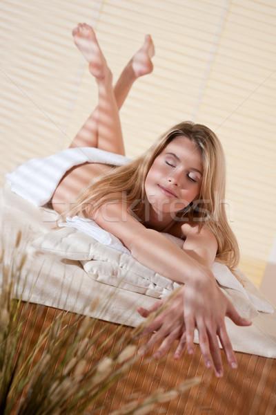 Spa młoda kobieta wellness masażu leczenie terapii Zdjęcia stock © CandyboxPhoto