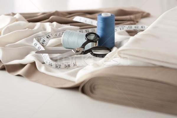 Zdjęcia stock: Moda · projektant · studio · zawodowych · wyposażenie · biurko