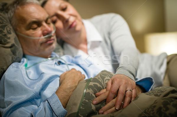 отставку человека жена спальный Сток-фото © CandyboxPhoto