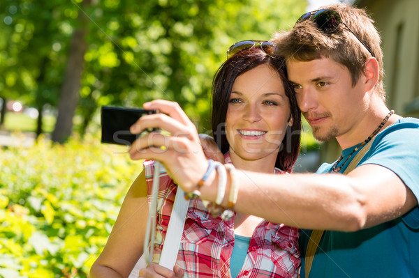 Young couple in love take picture themselves Stock photo © CandyboxPhoto