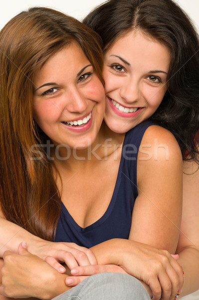 Portrait of embracing best friend Stock photo © CandyboxPhoto