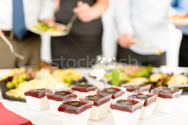 Catering dessert mini creamy appetizers Stock photo © CandyboxPhoto