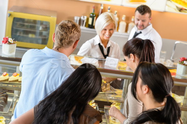 People buying cakes at cafeteria queue desserts Stock photo © CandyboxPhoto