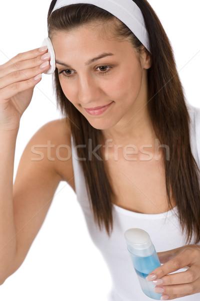 Güzellik genç kadın temizlik akne Stok fotoğraf © CandyboxPhoto