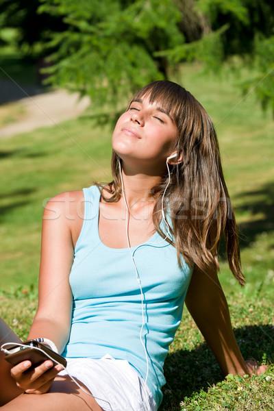 Ascoltare musica parco rilassante Foto d'archivio © CandyboxPhoto