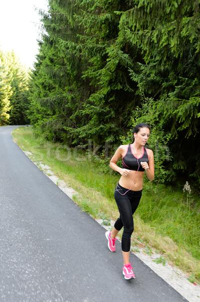 спортсмена женщину подготовки марафон запустить бег Сток-фото © CandyboxPhoto