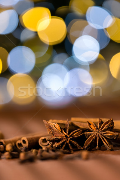 Christmas spices clove, star anise and cinnamon Stock photo © CandyboxPhoto