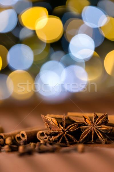Natal temperos dente de alho estrela anis canela Foto stock © CandyboxPhoto