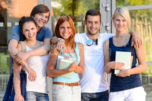 Group of students standing front college campus Stock photo © CandyboxPhoto