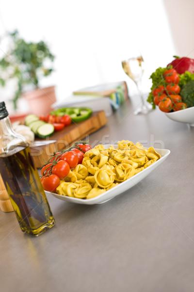 Cottura cucina italiana pasta pomodoro olio d'oliva ingredienti Foto d'archivio © CandyboxPhoto