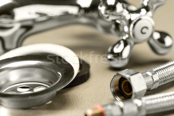Sanitair variëteit metaal tool schroef Stockfoto © CandyboxPhoto