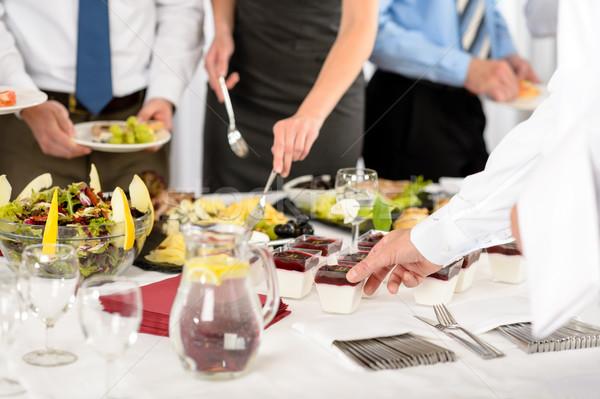 Business catering alimentare società celebrazione formale Foto d'archivio © CandyboxPhoto