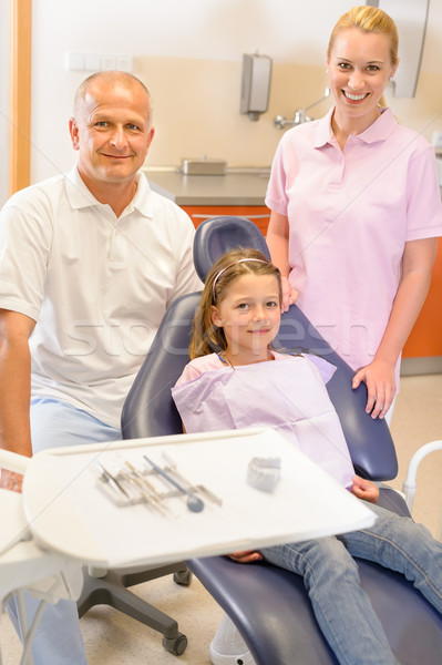 Dental team in stomatology clinic with child Stock photo © CandyboxPhoto