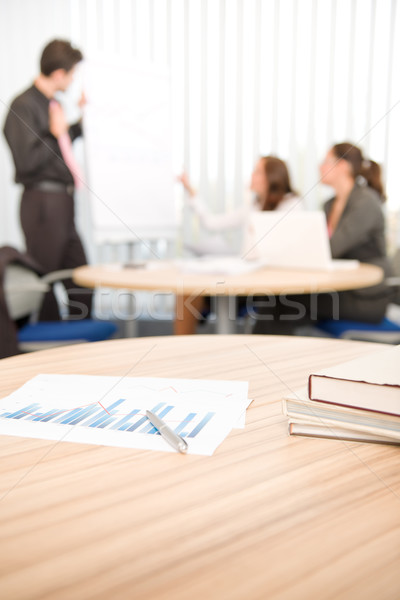 Office suply - business meeting in background Stock photo © CandyboxPhoto