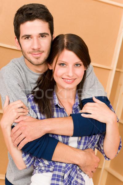 Melhoramento da casa jovem feliz casal juntos Foto stock © CandyboxPhoto