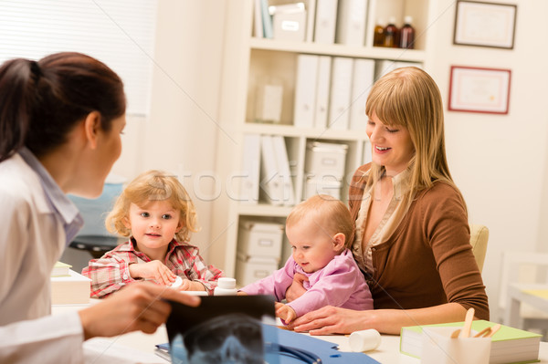 At the pediatrician office mother with baby Stock photo © CandyboxPhoto