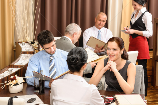 Business lunch executives look menu restaurant   Stock photo © CandyboxPhoto