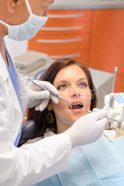 Healthy patient at dentist office Stock photo © CandyboxPhoto