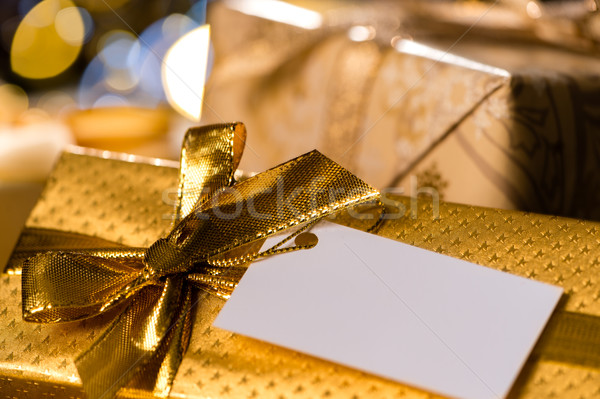 Christmas Gifts with blank label Stock photo © CandyboxPhoto
