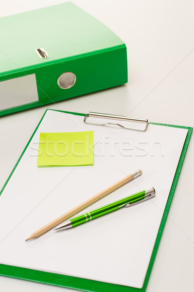 Eco business office accessories on green clipboard Stock photo © CandyboxPhoto