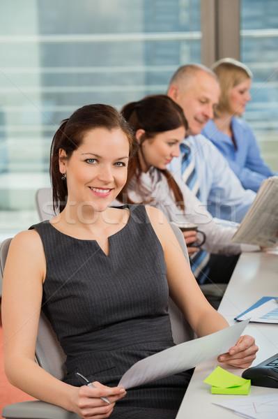 Imprenditrice ufficio colleghi business donna donne Foto d'archivio © CandyboxPhoto