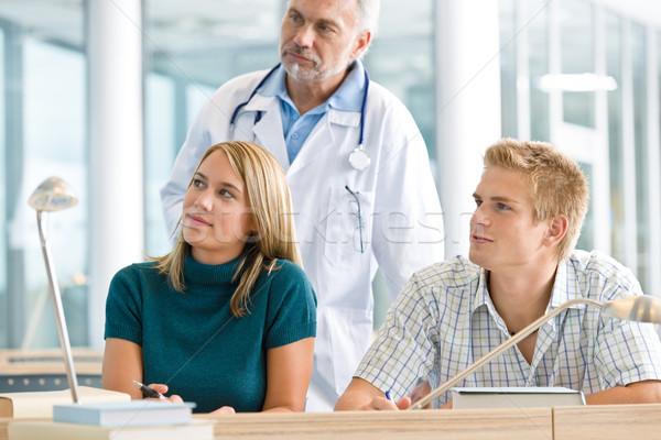 медицинской студентов профессор классе изучения женщину Сток-фото © CandyboxPhoto