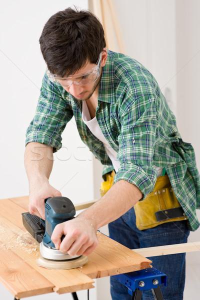 Mejoras para el hogar manitas taller mesa interior Foto stock © CandyboxPhoto