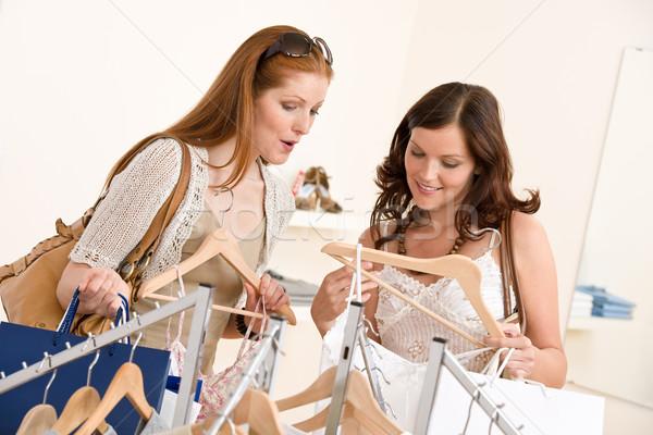Zdjęcia stock: Moda · zakupy · dwa · szczęśliwy · kobieta · wybierać