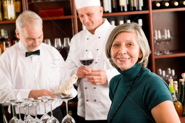 Restaurant manager with staff at wine bar Stock photo © CandyboxPhoto