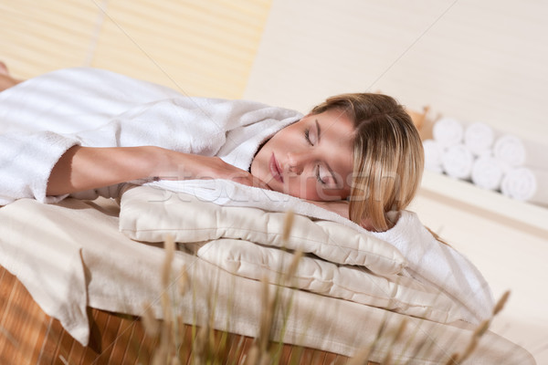 Stock photo: Spa - Young woman at wellness massage treatment