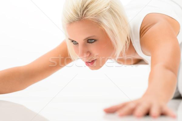女性 行使 白 階 小さな ストックフォト © CandyboxPhoto
