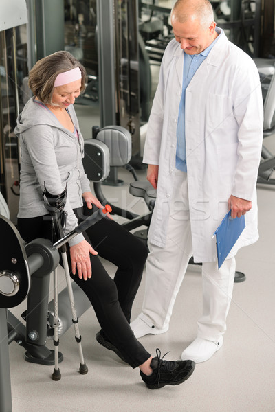 Senior woman with help of physiotherapist Stock photo © CandyboxPhoto