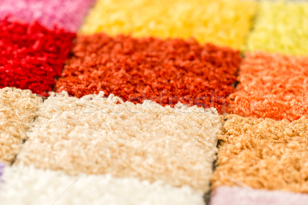 A variety of colorful carpet swatches Stock photo © CandyboxPhoto