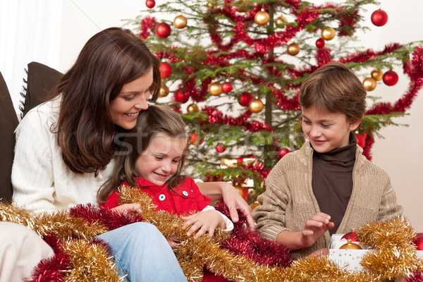 счастливым семьи матери Рождества девушки ребенка Сток-фото © CandyboxPhoto