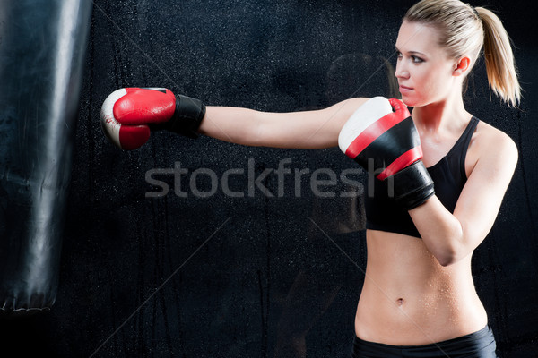 Boxe formation femme gymnase vêtements Photo stock © CandyboxPhoto
