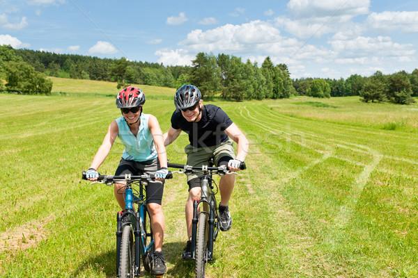 Сток-фото: спорт · Горный · велосипед · человека · Солнечный