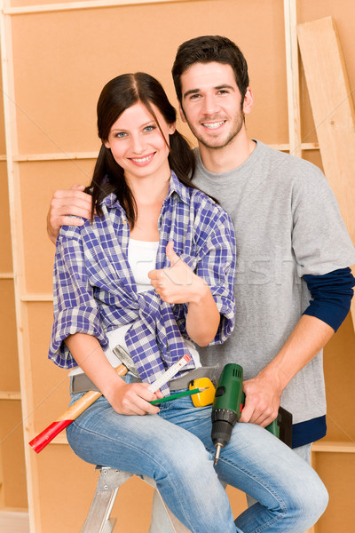 Home improvement young couple DIY repair tools Stock photo © CandyboxPhoto