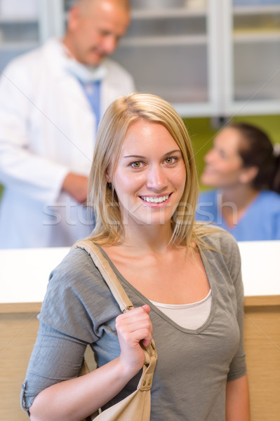 Visit at the dentist beautiful smile woman Stock photo © CandyboxPhoto